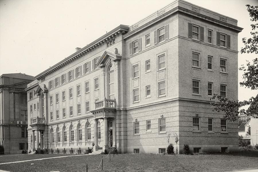 The original nurses dormitory building at UW-Madison