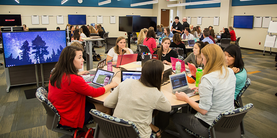 Nursing students in a technology-enhanced active learning classroom