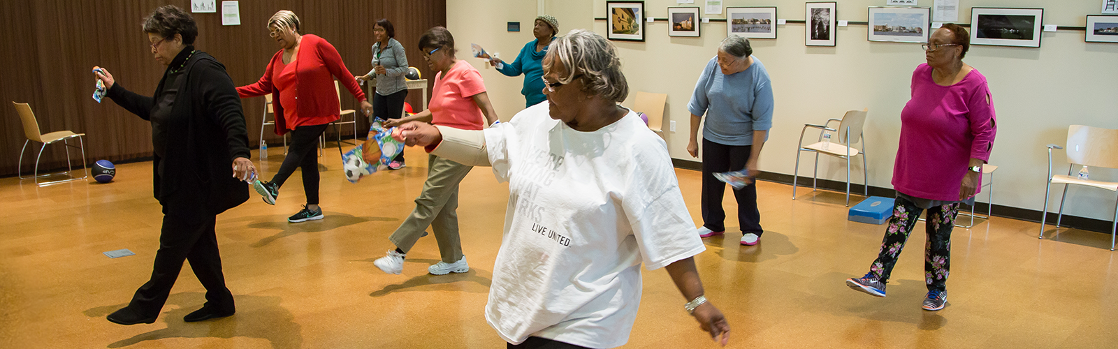 photo of older adults in a fall prevention program
