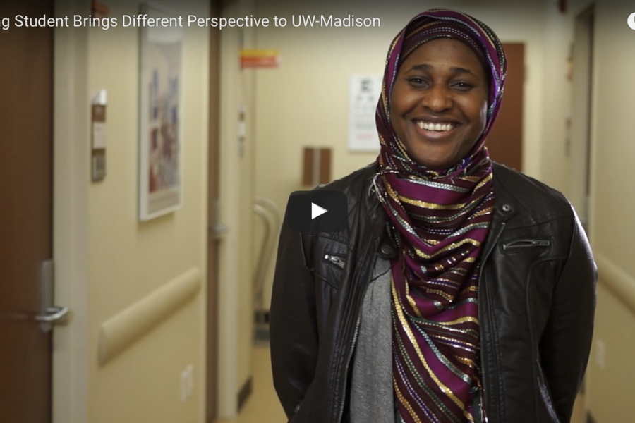 photo of BSN student Ummulkhair Drammeh, a still from a video she is featured in