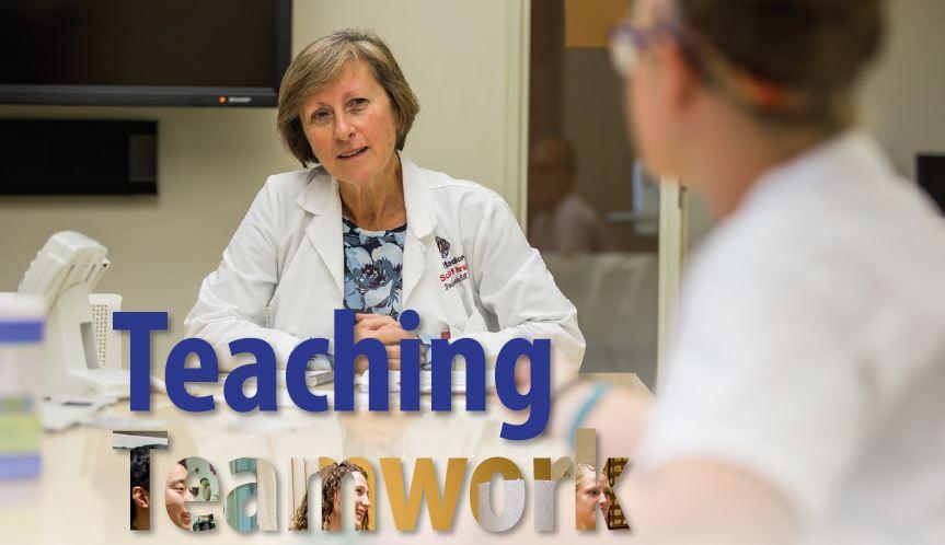 """Teaching Teamwork"" headline from ForwardNursing magazine Fall/Winter 2016"