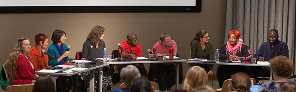 photo of faculty and community leaders speaking on a panel as part of the CARDS program