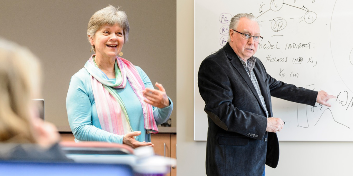 Photos of clinical faculty members Karen Solheim and Roger Brown