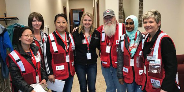 photo of nursing students who helped tornado victims in Barron & Rusk counties