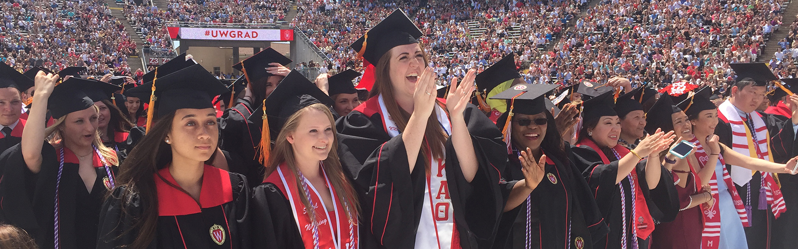 Commencement ceremony at Camp Randall Stadium School of Nursing graduates
