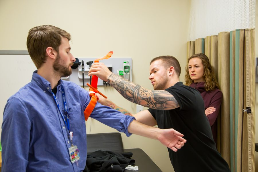 Nursing students demonstrating clinical expertise
