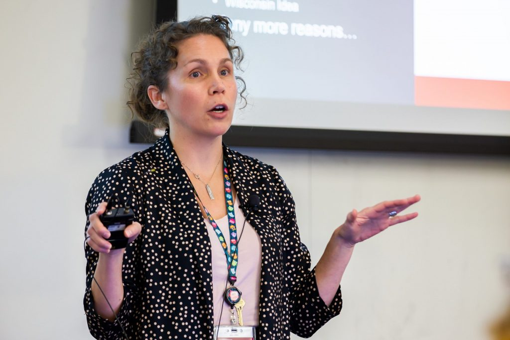 Kitty Montgomery delivers a RED Talk at the School of Nursing Fall 2019