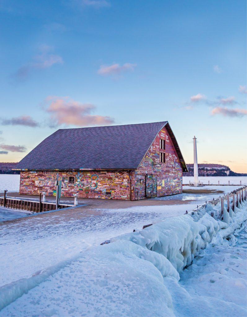 Ephraim, Door County, Wisconsin in winter