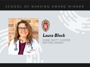 Laura Block, 2020 Signe Skott Cooper Writing Award