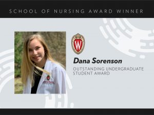 Dana Sorenson, 2020 Outstanding Undergraduate Student Award