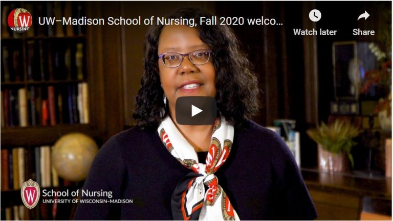 Welcome back to the School of Nursing from Dean Linda Scott