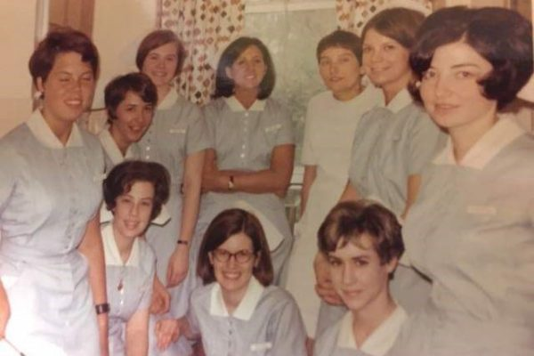 Class of 1971 clinical group in uniforms
